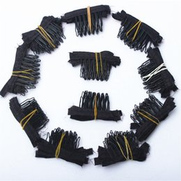 50 Stück schwarze Farbe Perücke Kämme Perücke Clips und Kämme mit 5 Zähne für Perücke Cap und Perücken machen Kämme Haarverlängerungen Werkzeuge von Fabrikanten
