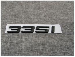"""Wholesale Black 335 - Black """" 335 i """" Number Trunk Letters Emblem Badge Sticker for BMW 3 Series 335i"""