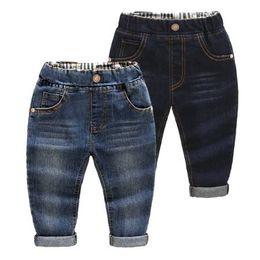 Wholesale Baby Denim Winter Pants - 2-9Yrs baby pants jeans denim boys jeans trousers navy blue kids soft regular spring autumn children 2017 new patch