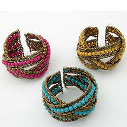 Wholesale Western Jewelry For Women Wholesale - high quality new arrival 3 colors for choose Fashion Western Style Bracelet Bohemian Bangle Jewelry for Women Lady Girls