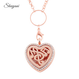 Wholesale Hearts Padded - Music Aromatherapy Locket Pendant Essential Oils Perfume Diffuser Floating Locket Necklace (Free Felt Pads,Free Chain)