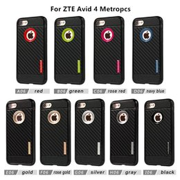 Wholesale Quality Dirt - High Quality Motomo Carbon Fiber Soft Armor TPU Phone Case For ZTE Avid 4 Metropcs For LG Aristo 2 Metropcs D