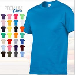 Camisas de algodão branco liso on-line-Novos Homens de Verão De Algodão S-3XL Sólida T Shirt Preto Branco Casual T-shirt Simples O-pescoço de Manga Curta T-shirt Magro