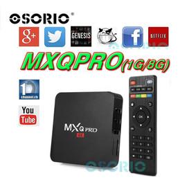 Wholesale Cheapest Quad Core Tv Box - Cheapest Rockchip MXQ PRO TV Box RK3229 Quad Core Cortex A7 1.5GHZ 1G 8G Android 6.0 KD16.1 TV BOX WiFi OTT 4K 3D Android ott tv box VS V88