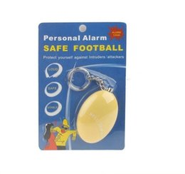Wholesale Decibel Alarm - New Personal Alarms Bell Tama Loud Safe Stable 120 Decibels Mini Keychain Alarm Safe Football Panic Anti Rape Attack Self Defence Alarm