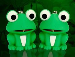 lanternas de animais Desconto Novo produto luz de voz grande olho verde rã LED luminoso keychain cartoon animal Lanterna de presente criativo venda por atacado quente