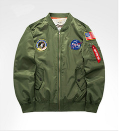 Wholesale Mens Flight Jackets - HOT Sell Bomber Jacket Flight Pilot Jackets Mens Casual Flying Coats Long Sleeve Slim Fit Clothes Military Embroidery 6XL