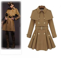 Wholesale Wool Sash - 2016 Ladies Winter Jackets Coat For Women Heavy Wool Coats