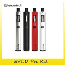 Wholesale Kanger Evod Silver - Authentic Kanger EVOD PRO Starter Kit All-in-one kit Top Fill Compatible with kangertech CLOCC coil Heads 100% Genuine DHL Free 2211067