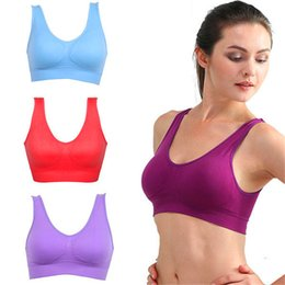 Wholesale Mixed Women S Underwear - Wholesale Women Seamless Solid Bra Fitness Bras Tops Breathable Running Fitness Underwear Lovely Young Size S M L XL XXL 3XL DHL free