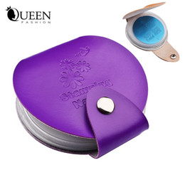 Wholesale Stamps Albums - Wholesale- Newest 24slots Leather Nail Art Stamping Plate Case Bag Folder Nail Stamp Template Holder Album Storage for Dia 5.6cm Stencil