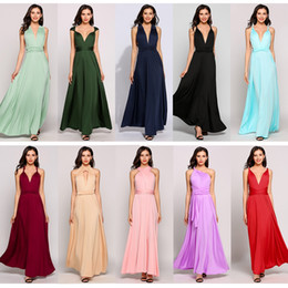 Wholesale Night Clubbing Clothes - fashion new arrival women's clothing ladies Multiway Sleeveless Solid Backless Sexy Bandage Evening Party Dress full long