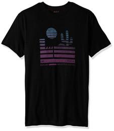 camisa nova homens Desconto Design fresco de verão boa qualidade RVCA masculino Desert Sunrise Tee verão Tops Tees T Shirt