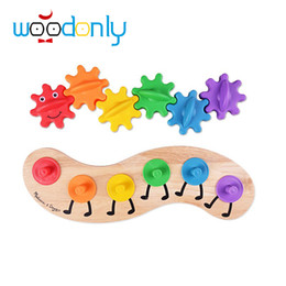 Wholesale Worm Toy For Babies - Wholesale-Toys for children Montessori Wooden Toys Cute Gear Worm Caterpillar Kids Toys Educational Toys Baby oyuncak