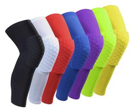 Wholesale Red Elbows - Sport Safety Football Volleyball Basketball KneePads Tape Elbow Tactical Knee Pads Calf Support Honeycomb Knees ProtectGear breathable Honey