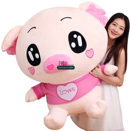 Wholesale Cute Pig Plush Toy - Dorimytrader 100cm Cute Big Cartoon Fat Pig Plush Toys Lovely Stuffed Animals Doll Anime Pigs Pillow 39inches Girlfriend Gift DY61631