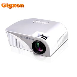 Wholesale Led Projector Native Full Hd - Wholesale- Gigxon - G8005B Newest portable mini led projector native 800*480 50W full HD 3D 1080p digital video