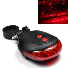 E-SMARTER Impermeabile 2 Laser + 5 LED lampeggiante 3Modes Lampada Coda Posteriore Ciclismo Spia di sicurezza per bici BLL_604 da