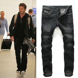Wholesale old jeans - 2017 New Arrival Fashion Jeans Male Old Slim Straight Cave Men's Jeans Casual Slim Straight Designer Denim Jeans Men Hot