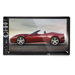 Wholesale Monitors Dvd - 7018B 7 Inch Bluetooth V2.0 Car Audio Stereo Touch Screen MP5 Player Support TF MMC USB FM Radio Radio Bluetooth FM USB MP3 MP5 +B