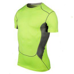 Wholesale Men S Under Wear - Wholesale- Men Compression Wear Under Pro Base Layer Short Sleeve T-Shirts Tank Tops