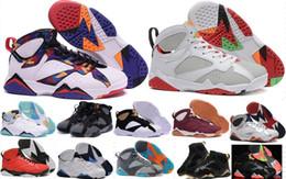 Wholesale Cardinal Rhinestone - High Quality Retro 7 VII 7s Mens Basketball Shoes Men 7s Raptor Hares Bordeaux GG Cardinal French Blue Sneaker Man 7 VII Sports Shoes 11-13