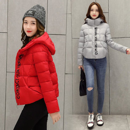 Wholesale Womens Short Red Parka - 2017 winter women jacket red clothing women's Short coat down jacket thickening womens coat parka