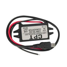 Wholesale Mini Converter Dc - Wholesale- 15W DC to DC Car Auto Vehicle Power Single Mini USB Adapter Converter New Dropping Shipping