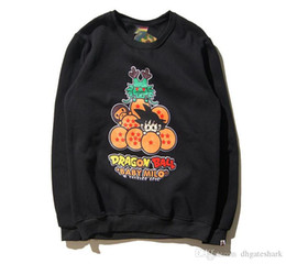 Wholesale Models Cartoon - New Autumn Winter Teenager Hip Hop Round Neck Hoodie Sweater Dragon Beads Wukong Casual Cartoon Couple Models Jacket Sweatshirts Tops