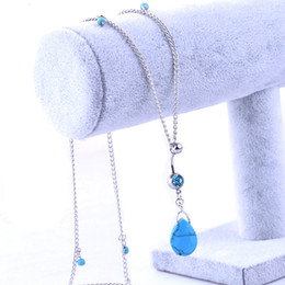 Wholesale Factory Turkey - Factory wholesale puncture waist chain, the new water droplets Turkey stone belly umbilical chain, free shipping