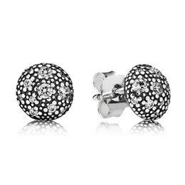 Wholesale Pandora Stars - Authentic 925 Sterling Silver Earring Cosmic Stars With White Crystal Stud Earrings Compatible With Pandora Jewelry HKWD12