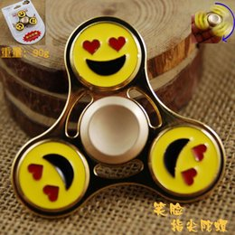 Wholesale Blister Hands - Smiley Finger Tip Gyro Hand Fidget Spinner Toy In Blister Retail Packing Promotion Gifts For For Autism and ADHD 30pcs DHL Free