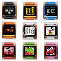 Wholesale Iwatchz Wrist - Wholesale-Fit your iPod Nano 6 Colorful Digital iwatchz Q Collection Silicone Wrist Watch Strap Soft Case Cover for 6th Gen Generation