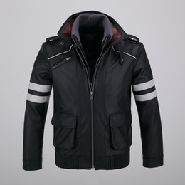 Wholesale Alex Mercer Jacket - Cool Mens Detachable Double-layer Collar Game Prototype Alex Mercer Short Jackets Outwear with Embroidery Pattern High Quality