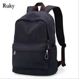 Wholesale vintage casual canvas backpack - Wholesale- Vintage Fashion Rucksack Men's Canvas Backpack Casual Travel Backpack Teenagers Men Laptop Backpacks College Student School bag