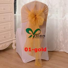 Wholesale Wedding Sashes For Chairs Cheap - Organza Chair Cap Hood \ Cheap Wedding Chair Sash Fit For Wedding Chair Cover