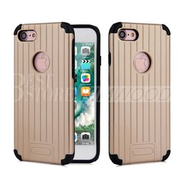 Wholesale V Groove - V-ERUS For Iphone 5 6 6S 7 Plus Samsung S7 Edge Note 5 Armor Cases TPU & Plastic Hybrid Dual-Layered Case Groove Design Cover