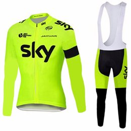 Wholesale Cycle Thermals - 2017 SKY Team Men's Cycling Jerseys Set, Winter Thermal Fleece Bicycle Clothing Men Bicycle Clothing Bike Clothes Bike Jersey, 3 Colors!