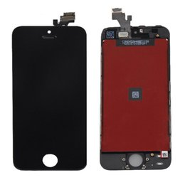 Wholesale I Phone Display - High Quality new LCD Screen Display with Digitizer Touch Panel for i phone 5 5s 5c free shipping low cost