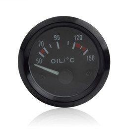 Wholesale Car Gauge Lights - 2 Inch Universal Car Pointer Oil Temperature Temp Gauge Car and Motorcycle Truck oil temperature 50-150 with LED Light CEC_543
