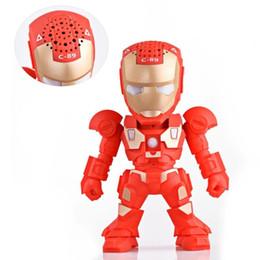 Wholesale arm robots - Best Selling C-89 Bluetooth Mini Speaker Iron Man LED Flash Light Deformed Arm Figure Robot C89 Portable Mini Wireless