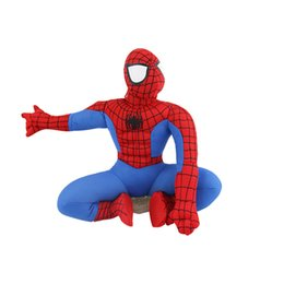 Wholesale Decoration Cars - Car roof decoration doll ornaments plush dolls Spider-Man car exterior decorations funny car body stickers children toys
