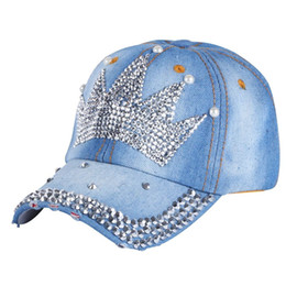 Wholesale Kids Rhinestone Hats - High Quality child cap hats latest design rhinestone crown boy girls kids snapback caps new fashion children brand baseball cap