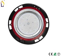 Wholesale- 2pcs / lot ha condotto l'alta luce della baia del UFO 150W 200W luce industriale ha condotto la luce di inondazione impermeabile ip65 AC100-277V illuminazione esterna da
