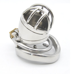 Wholesale Sex Small China - China 2017 Small Male Chastity Device with Anti-off Spike Ring Stainless Steel Cock Penis Cage Chastity Belt BDSM Sex toys For Men