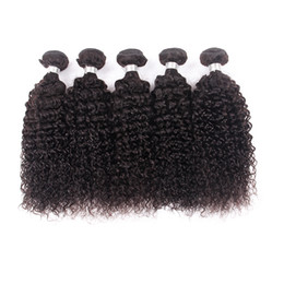 Canada 7A Machine Double Trame Extension de Cheveux de Haute Qualité Crépus Bouclés 3 Pièces Tissage de Cheveux 100% Cheveux Péruviens Aucun Traitement Chimique cheap processed kinky curly hair Offre