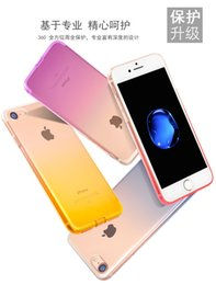 Wholesale Silicone Case Iphone Dust Plug - Colorful Gradient Color Slim Ultra Thin Transparent Clear Soft TPU Silicone Case Cover Skin For iPhone 8 7 Plus 6 6S With Dust Plug Free DHL