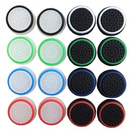 Wholesale Silicone Protective - Game Accessory Protect Cover 16pcs 8 Pairs Silicone Thumb Stick Grip Caps for PS4  Xbox 360  PS3  Xbox one Game Controllers