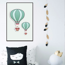 Wholesale Personalized Picture Canvas - Nordic modern household wall decoration, hot air balloon, oil painting wall art picture poster painting personalized decoration drawing livi