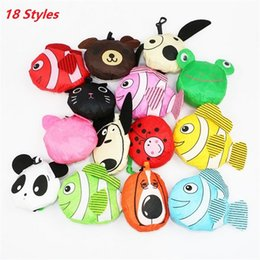 Wholesale Dog Bee - Newest 18 styles New Cute Useful Animal Bee Panda Pig Dog Rabbit Foldable Eco Reusable bag Shopping Bags A0136
